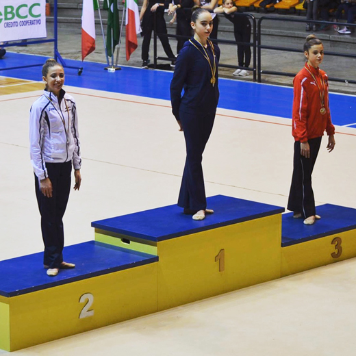 Podio, Gold Senior, Nicole 2a classificata